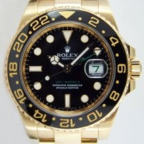 Rolex Gmt Master II Yellow Gold Black Dial - 116718ln