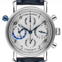 Chronoswiss Tora GMT Stahl Automatik Chronograph Armband Leder...