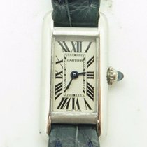 Cartier Tank Americaine Mini 2680 Solid 18k White Gold Ladies...