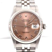 Rolex Mens Datejust - Salmon Roman Dial 16234 No Holes Model