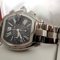 Cartier Roadster Chronograph Steel Black Roman Dial (40 x 47 mm)