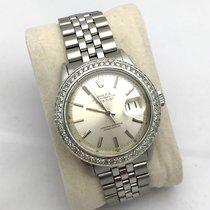 Rolex Oyster Perpetual Datejust Ss Mens Watch Diamond Bezel,...