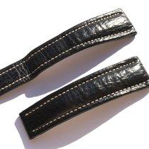 Breitling Band 22mm Hai Schwarz Black Shark Strap Correa Für...