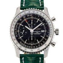 Breitling Navitimer World 46 Chronograph Black Dial Green...