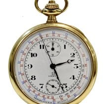 Omega Vintage Telemetre Pocket Watch in Gold 18Kt 50mm