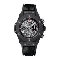 Hublot Big Bang Unico Black Magic 45mm Automatic Ceramic Mens...