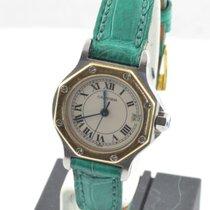 Cartier Santos Damen Uhr Quartz Stahl/gold Schöner Zustand...