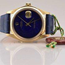 Rolex DateJust 16018 perfekt Lapis Lazuli Dial 18k Gold  - 1980