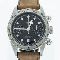 Tudor Heritage Black Bay 41 Chronograph Brown Leather Strap