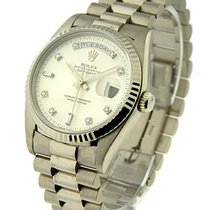 Rolex Used 18239 White Gold Mens President with President...
