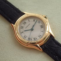 Cartier Cougar 18 Karat Gelbgold Damenuhr Full Set TOP Zustand