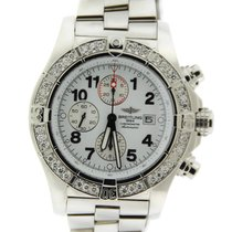 Breitling Super Avenger Diamond Chronograph Stainless Steel