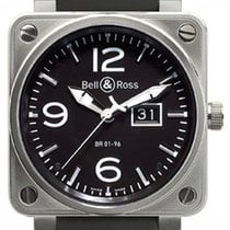 Bell & Ross BR01-96-GD Grande Date Steel 46mm Black Dial...