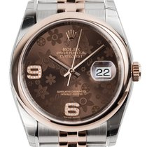 Rolex DateJust 36 Steel and Everose Gold Chocolate Dial...