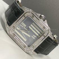 Cartier - Santos 100 121640LX Diamond Bezel Grey Dial WG
