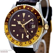 Rolex Vintage GMT Master Tiger Eye Ref-1675 18k Yellow...