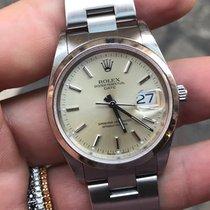 Rolex Date (datejust) 34 mm Acciaio oyster steel zaffiro