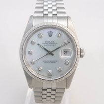 Rolex Datejust Steel Diamond Set Mother Of Pearl Dial, Gents Size