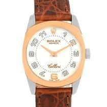 Rolex Cellini Danaos 18k White Rose Gold White Dial Ladies...