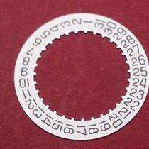 Cartier 688 Datumsscheibe, schwarze Schrift auf silbernen...