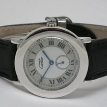 "Cartier ""Must de Cartier Ronde"" Silber rhodium 33mm. case"