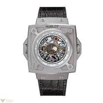 Hublot Masterpiece Skeleton Titanium Black Leather Men`s Watch