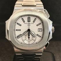 Patek Philippe Nautilus 5980/1A Chronograph - White Dial -...