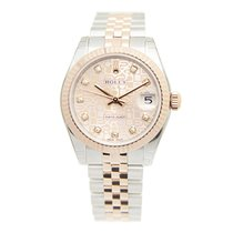 Rolex Lady Datejust 18k Rose Gold And Steel Gold Automatic...