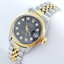 Rolex Datejust Damenuhr Mit Brillanten Diamanten Stahl/gold...