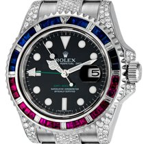 Rolex GMT-Master II Steel Pepsi Bezel Diamond Set 116710LN
