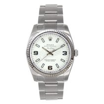 Rolex Air-King Heavy Band Model 114234 18K White Gold Fluted...