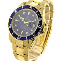 Rolex Used 16618 All Gold Submariner - 16618 - Yellow Gold...