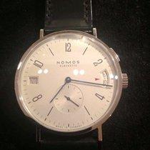 Nomos Glashütte Tangomat GMT Datum Stahl Automatik Ref. 635