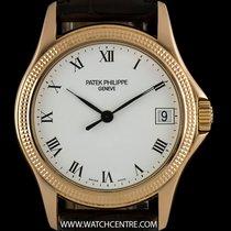 Patek Philippe 18k Rose Gold White Roman Dial Calatrava 5117R-001