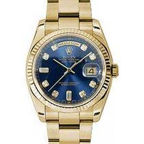 Ρολεξ (Rolex) Day-Date 36 118238-BLUDFO Blue Diamond Fluted...