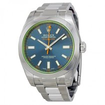 Rolex Milgauss Blue Dial Stainless Steel Men's Watch 116400GV