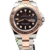 Rolex NEW MODEL Yacht-Master 40mm Chocolate Bicolor Gold Steel