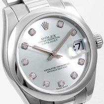 Rolex Platinum 31mm Datejust Factory Silver Diamond 178246 model