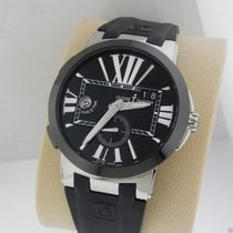 Ulysse Nardin Executive Dual Time 243-00 Black Dial Stainless...