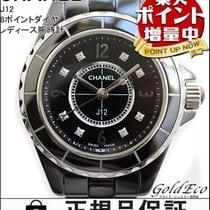 Chanel 【シャネル】J12 レディース腕時計 8Pダイヤ電池式 クォーツブラック 黒ダイヤインデックス...