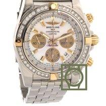 Breitling Chronomat 44 Pink Gold Diamond Bezel Steel Bracelet NEW