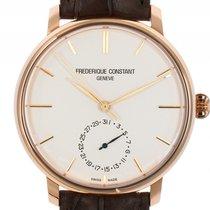 Frederique Constant Slim Line Roségold Automatik Armband Leder...