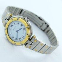 Cartier Santos Vendome Damen Uhr Stahl/gold