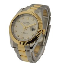 Rolex Used 116333_silver_used Mens 2-Tone Datejust II with...