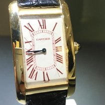 Cartier TANK AMERICAINE GM COLLECTION PRIVEE 170 PCS RED DIAL