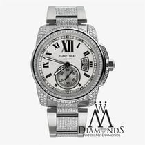 Cartier Mens Cartier Calibre Silver Opaline Automatic Watch...