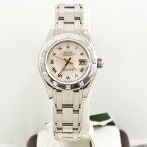 Rolex Ladys Pearlmaster 80319 MOP Dial W Box & Papers 2005