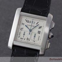 Cartier Tank Francaise Chronograph Stahl Herrenuhr Karrée 2531