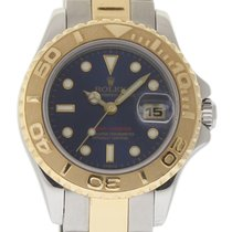 Rolex Yacht-Master 69623 29mm Steel Gold Blue 1997 Box/Papers/...