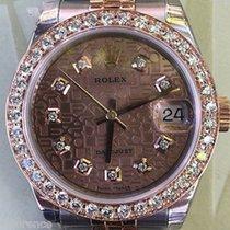 Rolex Midsize Datejust Steel Gold 31mm Diamond Bezel Jubilee...